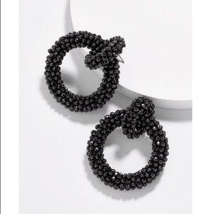 NWT Baublebar EMLYN HOOP EARRINGS-BLACK